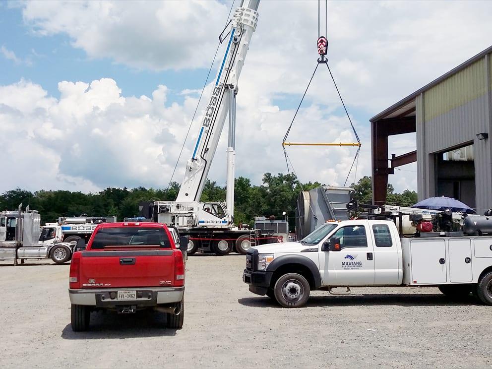 550 ton crane doing the heavy lifting. Kilgore, TX