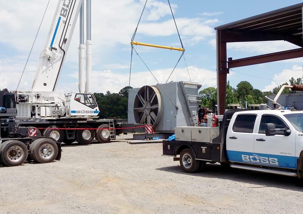 Gas Compressor Crane Job Kilgore, TX