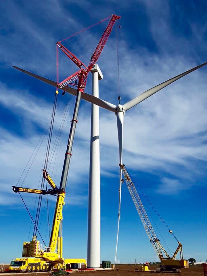 Installing full Wind Blade using the BOSS LTM-1750