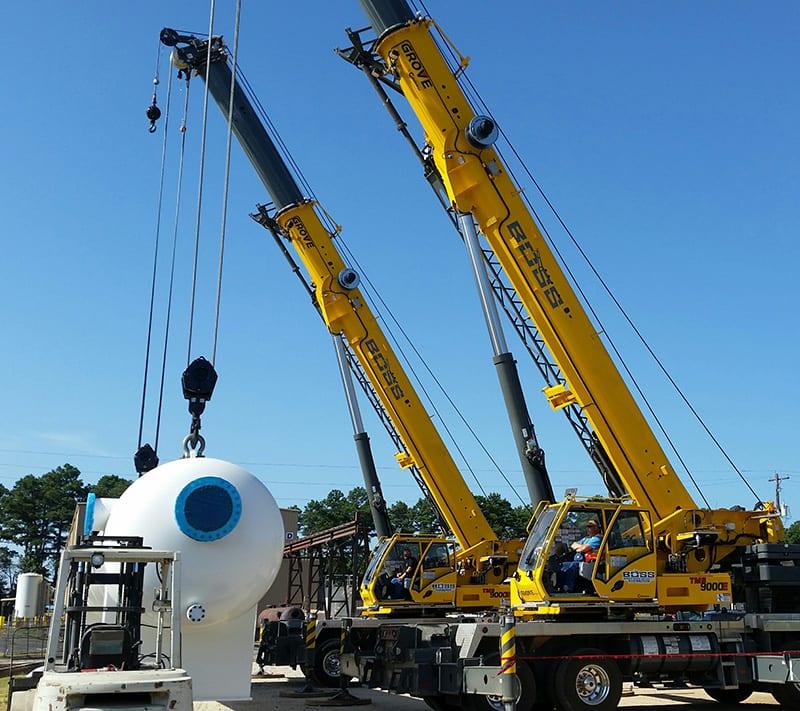 Mobile Crane Rigging : Petrochemical refinery plant services boss crane rigging