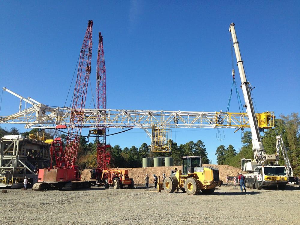 oil gas services boss crane rigging