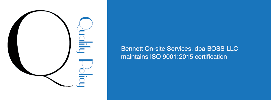 ISO 9001 Certification Quality Management - BOSS Crane & Rigging