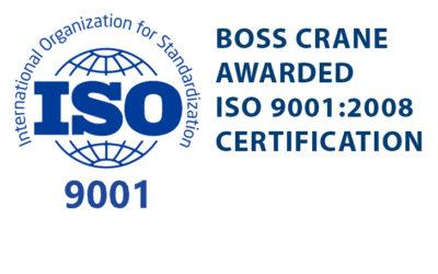 BOSS Crane & Rigging Awarded ISO 9001:2008 Certification