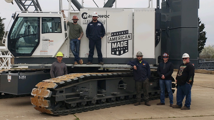 BOSS Crane's Newest Crawler is Proudly Made in the USA