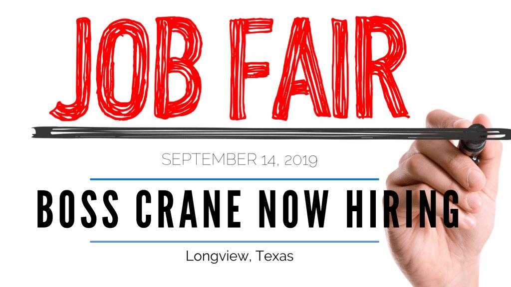Job Fair at BOSS Crane